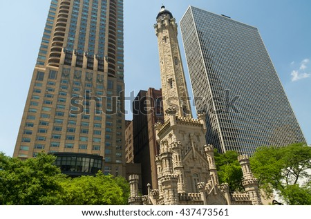 chicago avenue water tower and...