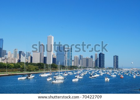 Chicago beside lake Michigan