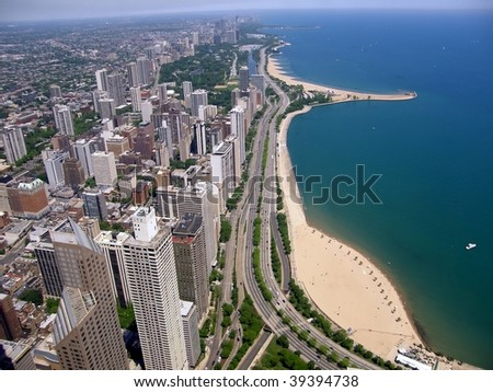 Chicago city by the lake