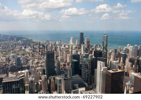 Chicago city scape beside sea