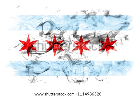 Chicago city smoke flag, Illinois State, United States Of America