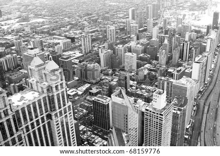 chicago downtown area   vintage ...