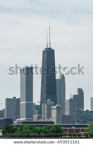 chicago downtown skyline view...