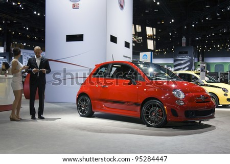 CHICAGO - FEB 12: Fiat 500 Abarth on display at the 2012 Chicago Auto Show on February 12, 2012 in Chicago, Illinois.