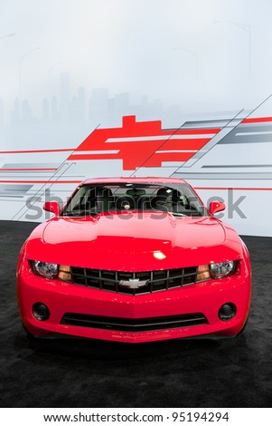 CHICAGO - FEB 9: The 2012 Chevy Camaro at the 2012 Chicago Auto Show Media Preview on February 9, 2012 in Chicago, Illinois.