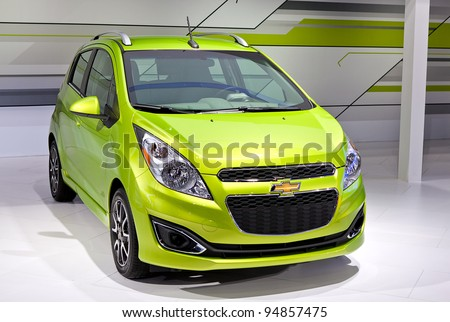 CHICAGO - FEB 9: The 2013 Chevy Spark is displayed at the 2012 Chicago Auto Show Media Preview on February 9, 2012 in Chicago, Illinois.