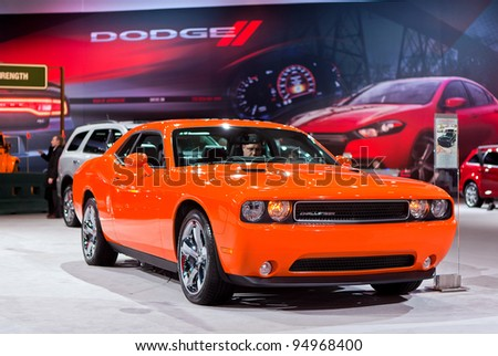 CHICAGO - FEB 8: The 2012 Dodge Challenger at the 2012 Chicago Auto Show Media Preview on February 8, 2012 in Chicago, Illinois.