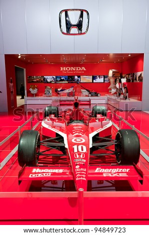 CHICAGO - FEB 9: The Honda Indy racer at the 2012 Chicago Auto Show Media Preview on February 9, 2012 in Chicago, Illinois.