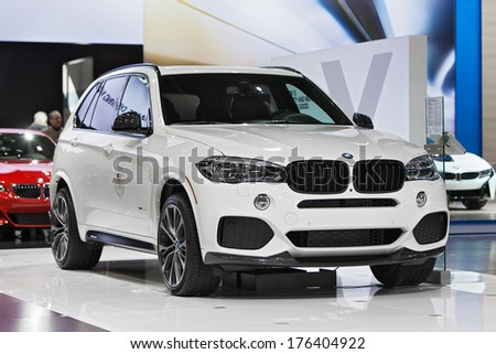 CHICAGO - FEBRUARY 7 : A BMW X5 on display at the Chicago Auto Show media preview February 7, 2014 in Chicago, Illinois.