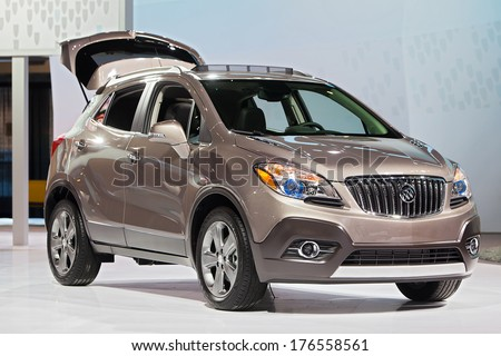 CHICAGO - FEBRUARY 7 : A Buick Enclave at the Chicago Auto Show media preview February 7, 2014 in Chicago, Illinois.