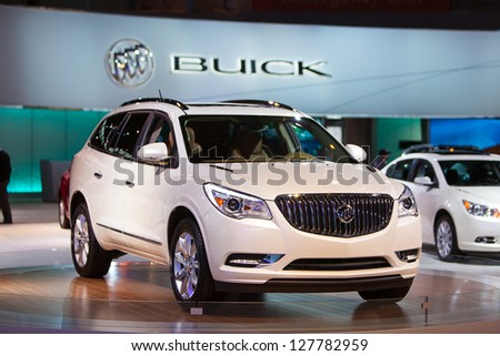 CHICAGO - FEBRUARY 8 : A 2014 Buick Enclave on display at the Chicago Auto Show February 8, 2013 in Chicago, Illinois.