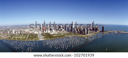 Chicago Harbor, City Skyline, Illinois