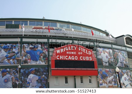 CHICAGO, IL- APRIL 22: The new owners of the Chicago Cubs on April 22, 2010 in Chicago debut their changes to Wrigley Field.