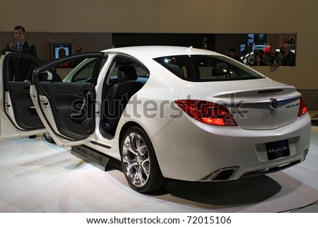 CHICAGO, IL - FEBRUARY 20: Buick Regal GS model 2011 at the International auto-show on February 20, 2011 in Chicago, IL