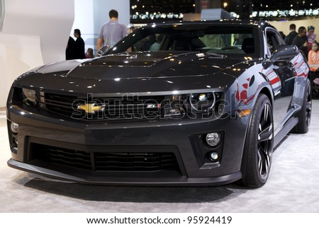CHICAGO, IL - FEBRUARY 19: Chevrolet Camaro ZL1 Coupe at the annual International auto-show, February 19, 2012 in Chicago, IL