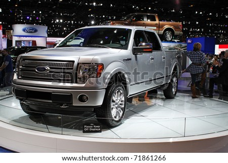 CHICAGO, IL - FEBRUARY 20: Ford F150 truck at the International auto-show on February 20, 2011 in Chicago, IL