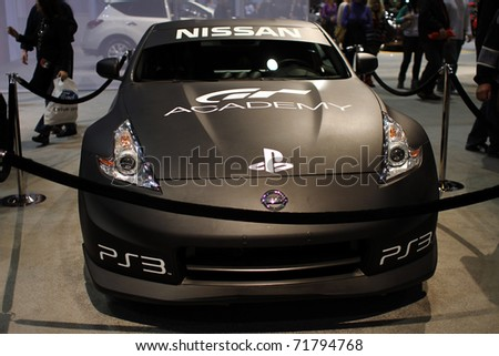 CHICAGO, IL - FEBRUARY 20: Nissan GT Sport model 2011 at the International auto-show on February 20, 2011 in Chicago, IL