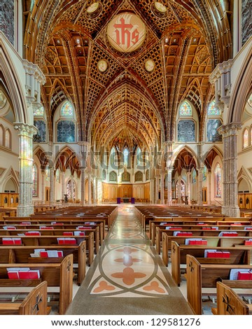CHICAGO, ILLINOIS - FEBRUARY 25: Interior of the Holy Name Cathedral on February 25, 2013 in Chicago, Illinois