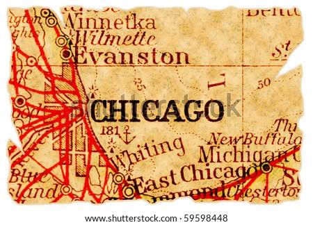 chicago  illinois on an old...