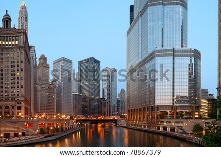 Chicago in the morning.
