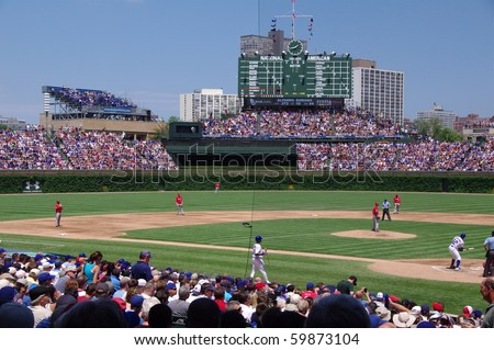 CHICAGO- JUNE 18: The Chicago Cubs play baseball with the Los Angeles Angels in Wrigley Field on June 18, 2010 in Chicago, Illinois.