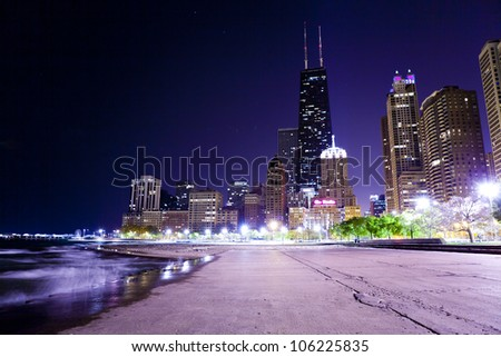 Chicago Lake Shore Drive at Night