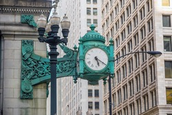 Chicago Marshall Field's Clock in downtown