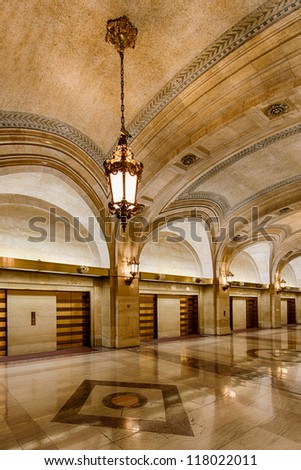 CHICAGO - OCTOBER 14: Lobby of City Hall on October 14, 2012 in Chicago, Illinois