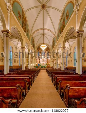 CHICAGO - OCTOBER 13: St. Procopius Church interior on October 13, 2012 in Chicago, Illinois.