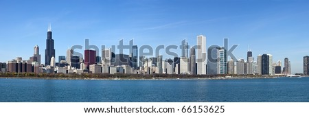 Chicago - Panoramic view from Lake Michigan #66153625