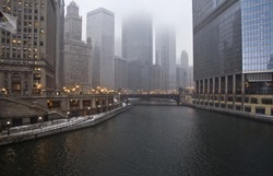 chicago river winter