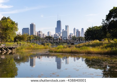 chicago's reflection from...