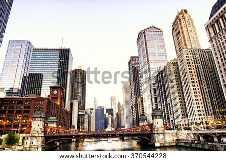 Stock Photo Chicago skyline