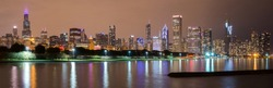 Chicago Skyline at Night.