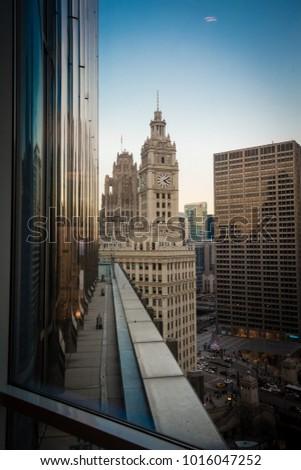 Chicago skyline. Chicago downtown skyline