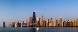 Chicago skyline in the morning light.