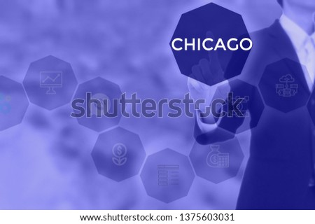 CHICAGO - technology and business concept #1375603031