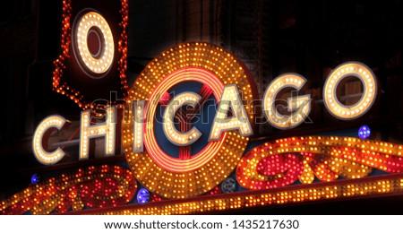 Chicago, United States: famous neon light symbolizing Chicago #1435217630