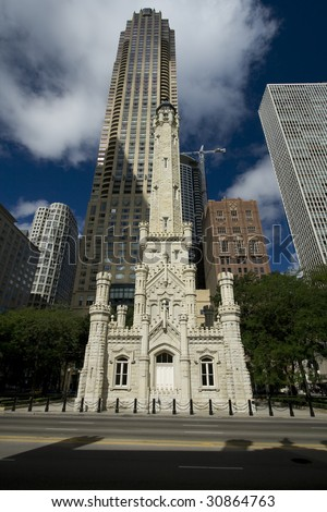 Chicago Water Tower - stock photo