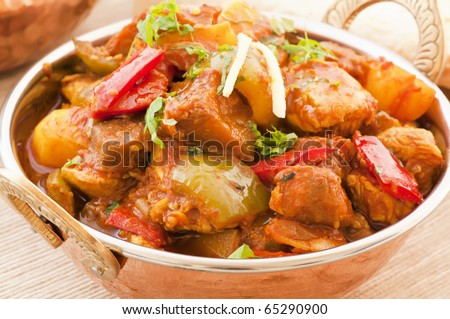 Chichen Vindaloo with Rice