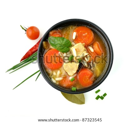 Chicken And Wild Rice Soup With Vegetables