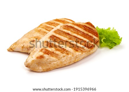 Chicken breast, grilled meat, isolated on white background. Сток-фото ©