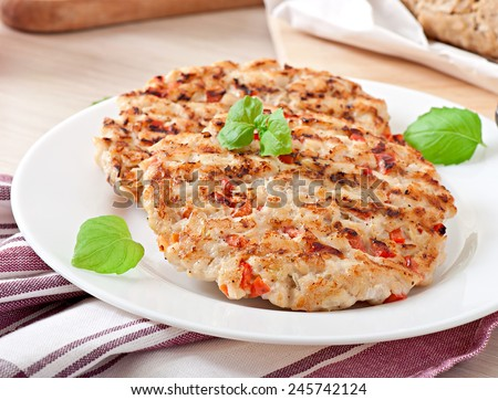 Chicken burgers grilled #245742124