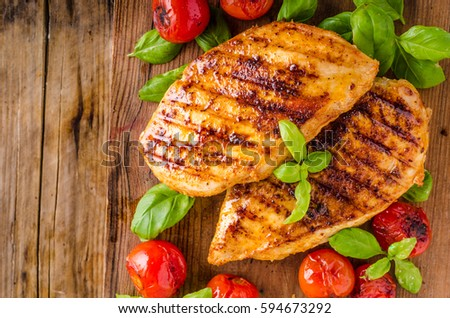 Chicken chilli steak with roasted vegetable, food photography Сток-фото ©