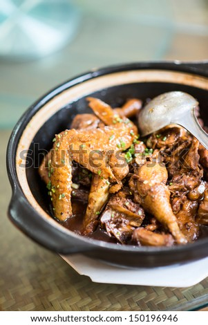 Chicken clay pot