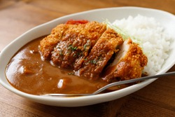 Chicken Cutlet Curry with Rice