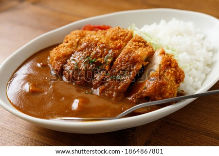Chicken Cutlet Curry with Rice ストックフォト ©