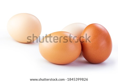 chicken eggs isolated white background Сток-фото ©