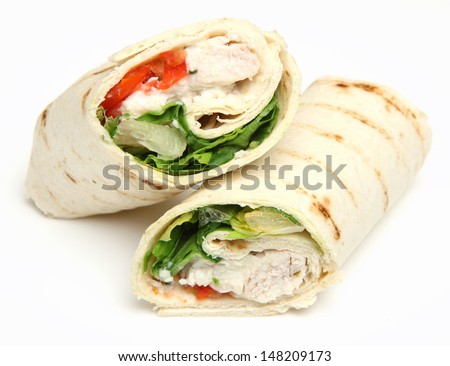 Chicken fajita wrap sandwich.