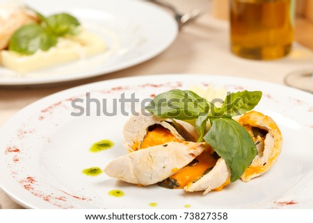 chicken fillet with potatoes
